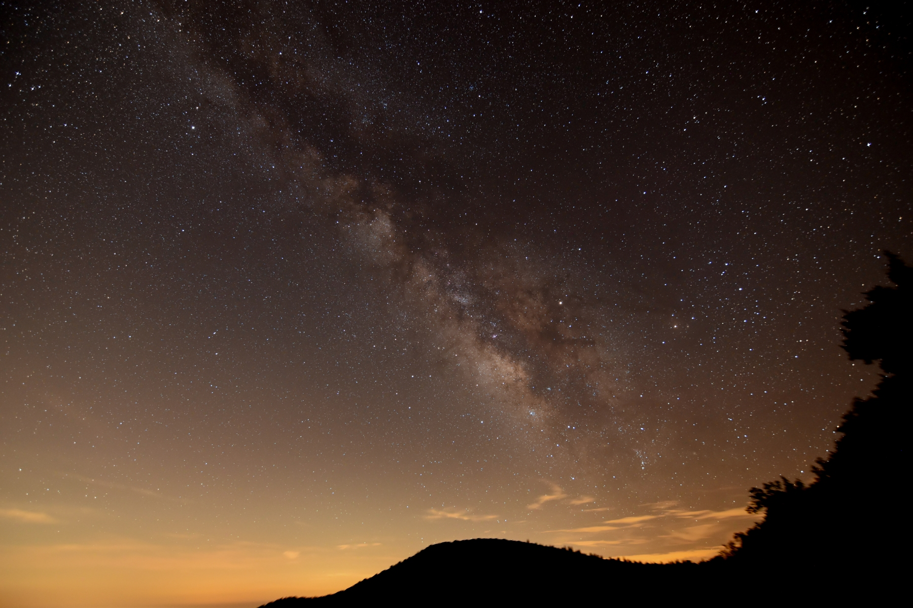 Milky Way over Blue Ridge Parkway