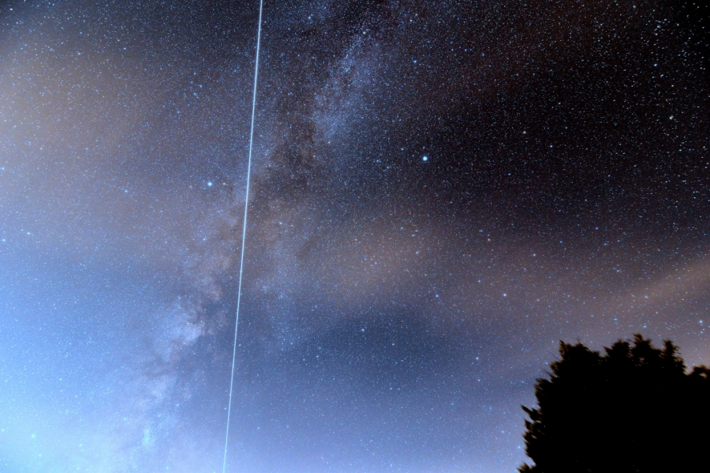 Jerry Sherman ISS Milky Way