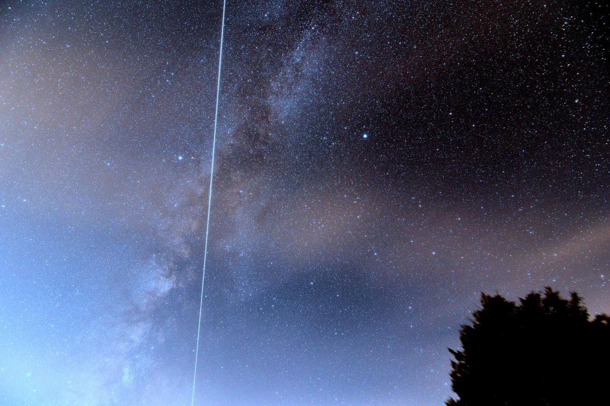 Jerry Sherman ISS Milky Way