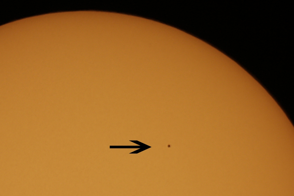 Mercury transit by Tim Barnwell
